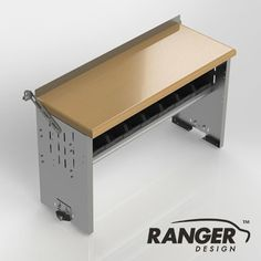 Ranger Design Workbench with 2 Bin Shelves - 48 x 18 x 28 in