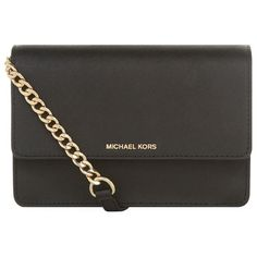 MICHAEL Michael Kors Daniela Small Flap Front Cross Body Bag (855 ILS) ❤ liked on Polyvore featuring bags, handbags, shoulder bags, crossbody chain purse, chain crossbody, chain handbags, crossbody handbag and chain shoulder bag