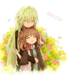Ukyo & Heroine (Amnesia) // Another ship of mine~ UKYO IS MY FAVORITE!!! :D I also like Ikki. ---and Shin! But Toma is my least favorite ._.