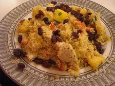 Mango couscous with raisins