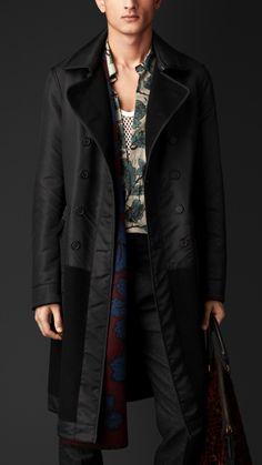 Reversible Contrast Topcoat   Burberry