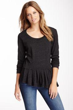 Peplum Sweatshirt by Monrow on @HauteLook