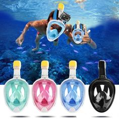 Full Face Snorkel Mask  W/Free Breathing Snorkeling Mask  (SWIM)