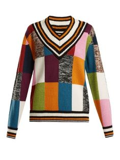 Patchwork-knit cricket sweater  | House Of Holland | MATCHESFASHION.COM UK