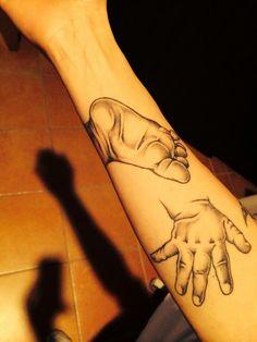 Tattoo#piede#mano#bimbo#
