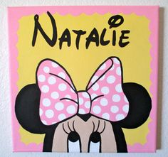 Disney's Baby Minnie Mouse Pesonalized Birthday Canvas Art