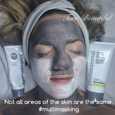 Not all areas of your skin are the same it's better for good skin health to target skin in zones . We offer a free personalised skin mapping service.  Visit our website to book and for further information   Doesn't she look 'appy!   #dermalogicauk #dermalogicaexpert #skinhealth #facemapping #multimasking #charcoalrescuemasque #facial #beautybrighton #brighton #dermalogica