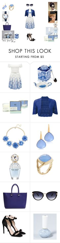 """""""60's teaparty"""" by lele-lovely ❤ liked on Polyvore featuring Forever New, Spode, Lollia, Natasha Accessories, Bucherer, Marc Jacobs, Rivka Friedman, Victoria Beckham, Oscar de la Renta and STELLA McCARTNEY"""