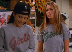 Monica.. Rachel.. Similar shirts!