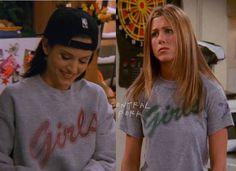 Monica.. Rachel.. Similar shirts!