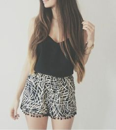 Image result for how to wear flowy shorts