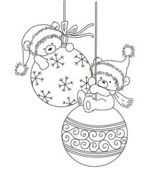Online shop rubber silicone clear stamps for scrapbooking tampons transparent seal background stamp card, the christmas bear Christmas Colors, Kids Christmas, Christmas Crafts, Crochet Christmas, Colouring Pages, Coloring Books, Christmas Coloring Sheets, Illustration Noel, Theme Noel