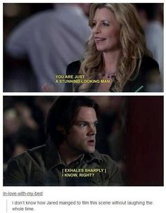 Jared padalecki!<<I couldn't stop laughing during this scene and ten minutes after.