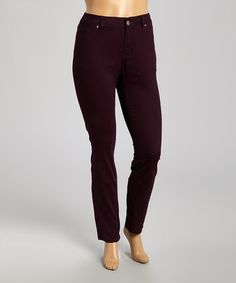 Another great find on #zulily! Eggplant Classic Skinny Jeans - Plus #zulilyfinds