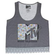MTV Crochet Bottom Tank Silver - Silver