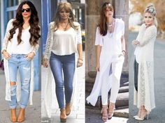 long white lace cardigan, Street style new trends http://www.justtrendygirls.com/street-style-new-trends/