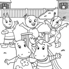 the backyardigans the backyardigans play together coloring page the backyardigans play together coloring page