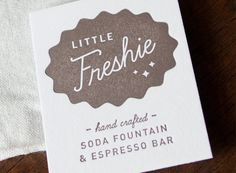 HAMMERPRESS | Little Freshie business cards #letterpress
