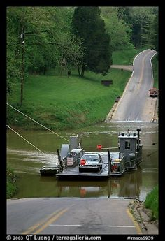 Green River ferry crossing. Mammoth Cave National Park, Kentucky