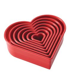 Look at this #zulilyfind! Red Hearts Seven-Piece Fondant/Cookie Cutter Set by Cake Boss #zulilyfinds
