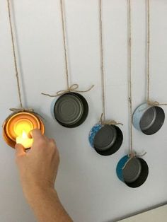 DIY upcycled projects are good and can add a unique touch to your home decor. Checkout these 20 easy DIY upcycle projects […] How To Make Bows, Tuna, Dollar Stores, Diy Design, Tea Lights, Christmas Diy, Christmas Popcorn, Diy Home Decor, Easy Diy