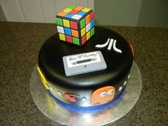 Ahhh! An 80s cake!!! Welcome to the 80's! By MadKat on CakeCentral.com