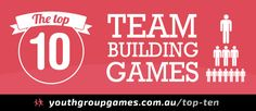 "#YouthWorker Resource: ""Top ten team building games Games, ideas, icebreakers, activities for youth groups, youth ministry and churches."" via www.youthgroupgames.com.au"