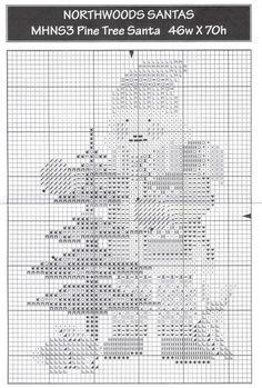 Gallery.ru / Фото #1 - MNHL3 Pine tree santa - natalytretyak Santa Cross Stitch, Cross Stitch Tree, Cross Stitch Needles, Beaded Cross Stitch, Cross Stitch Charts, Cross Stitch Patterns, Types Of Embroidery, Beaded Embroidery, Cross Stitch Embroidery