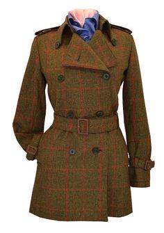 Scottish tweed trench coat, C&D Rigden & Son