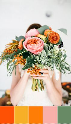 Perfect Autumn wedding bouquet - Orange Hues To Increase The Spectrum of Colour | fabmood.com