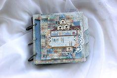 Elena Olinevich: Nyhavn Mini Album and Travell Book in One - Maja Design Mini Scrapbook Albums, Scrapbook Paper, Mini Albums, Craft Projects, Projects To Try, Handmade Scrapbook, Bookbinding, Scrapbooks, Paper Crafts