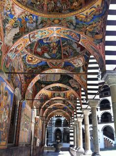 Rila Monastery, Bulgaria ~The religious art work was just BEAUTIFUL