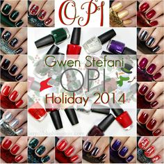 OPI Gwen Stefani Nail Polish Collection for Holiday 2014 Swatches
