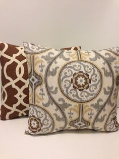 "Pillow Covers Decorative Throw Pillows Accent Pillow Brown Ivory Grey Tan 14"" x 14"" 16"" x 16"" 18"" x 18"" 20"" x 20""  24"" x 24"" on Etsy, $26.00"