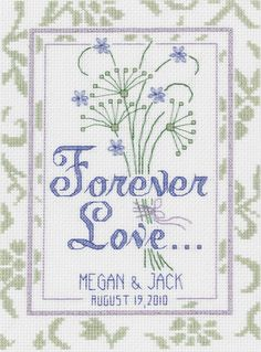 Modern Wedding Cross Stitch Pattern From by oneofakindbabydesign ...