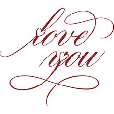 Silhouette Design Store: Love You With Hearts How To Write Calligraphy, Calligraphy Letters, Copperplate Calligraphy, Dibujos Tattoo, Script Writing, Creative Lettering, Card Sentiments, Writing Styles, Love Notes