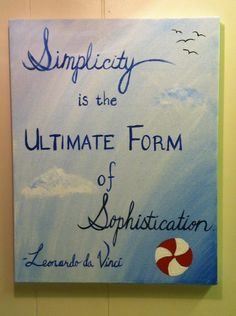 Da Vinci Quote painting for my bathroom. :)