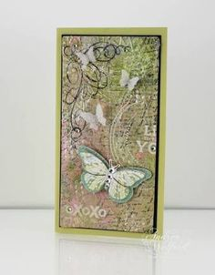 mixed media card with resist effect - Google Search