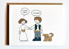 Princess Leia and Han Solo in Love Greeting Card