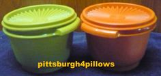 Tupperware - Nesting Bowls - 886 - Green & Orange - EUC - Price Is For All by pittsburgh4pillows on Etsy
