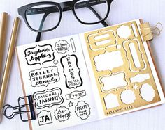 Planificateur pochoir Bullet Journal pochoir par JaydensApple