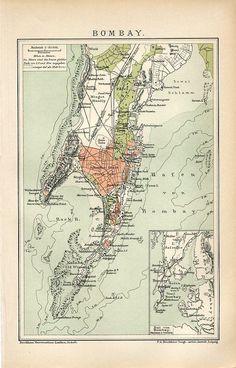 Showing Native States 1909 Map Humorous West India Inset Mumbai Bombay Chennai Madras