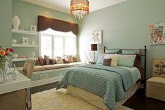 sophisticated girl/teen bedroom. traditional bedroom by Gordana Car Interior Design Studio