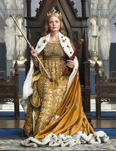 Elizabeth Woodville's Coronation Gown (The White Queen, White Queen Costume, The White Queen Starz, Queen's Coronation, Elizabeth Woodville, Ella Enchanted, Tudor Costumes, The White Princess, Medieval Fashion, Tudor Fashion