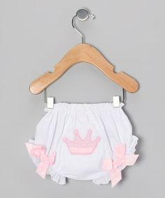 Take a look at this Pink Princess Crown Bloomers - Infant by Mud Pie on #zulily today!