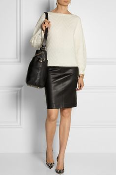 Jimmy Choo|Anna textured-leather shoulder bag|NET-A-PORTER.COM