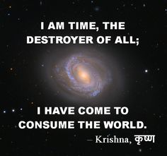 Krishna quote from Bhagavad Gita: Time, destroyer of all Hinduism Quotes, Krishna Quotes, Spiritual Quotes, Wisdom Quotes, Me Quotes, Motivational Quotes, Qoutes, Geeta Quotes, Jai Shree Krishna