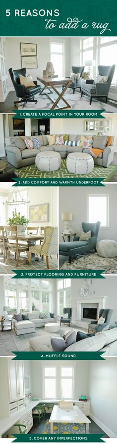 Blog by @GateHouse No.1  Five Reasons to Add a Rug via Loloi Rugs Collection #rugs #interiordesign #paradeofhomes #utah #style #furniture
