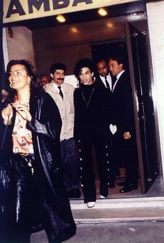 "Classic Prince | 1987 Sign ""☮"" The Times - Exiting a nightclub in Europe!"