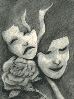 Theatre Masks Drawings | Camera Webfreind